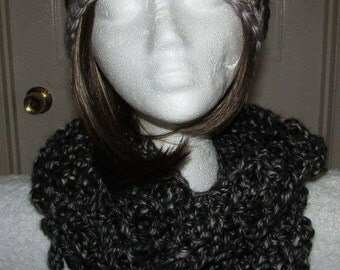 Mesh infinity scarf and hat