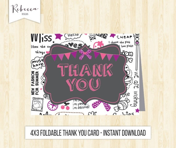 printable birthday cards foldable for girls