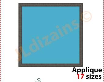 Square Applique Design. Square embroidery design. Embroidery design square. Applique design square shape. Machine embroidery design