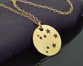 Libra Pendant, 14k Gold Filled, Libra Necklace, Zodiac Necklace, Zodiac Jewelry, Horoscope Necklace, Gold Necklace, Libra Jewelry, Alari