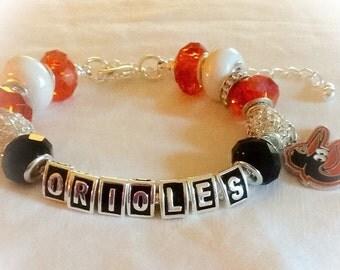 Baltimore ORIOLES Baseball jewelry handmade