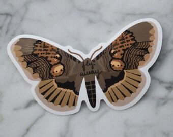 Moth Sticker Vinyl die-cut sticker waterproof art graphic design sticker glossy nature lover