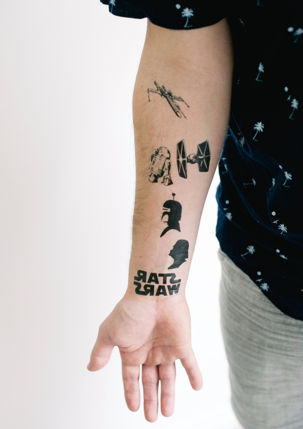 star wars set of temporary tattoos geektat