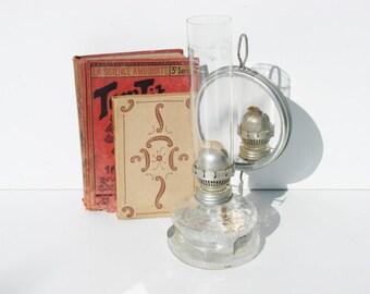 Antique petrol oil lamp french lighting mirror reflector lanterns kerosene dietz blizzard hurricane