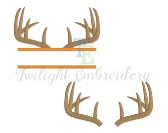 Set of 2 Deer Antlers Machine Embroidery Designs, Horns Machine Embroidery Designs 0018