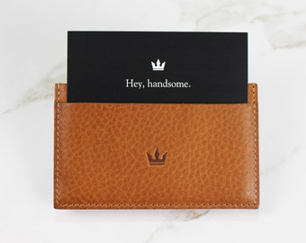 Minimalist Leather Credit Card Holder & Wallet - Premium Italian Leather