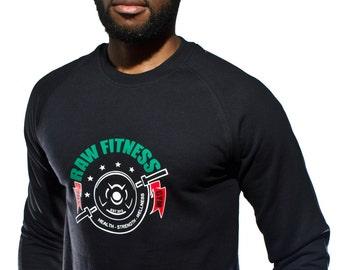 Black Sweatshirt- Never Back Down- Activewear, Comfortable, Casual.