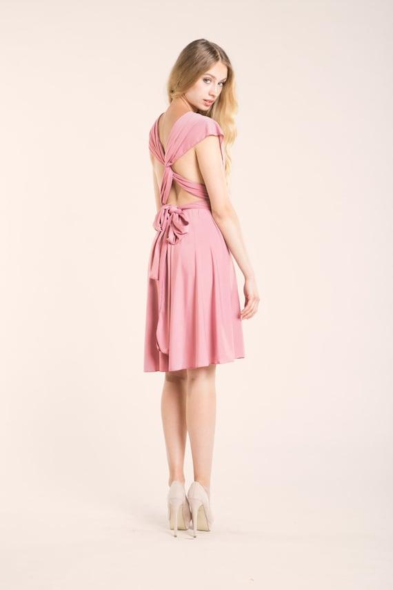 Powder pink dress light pink short dress powder pink by mimetik