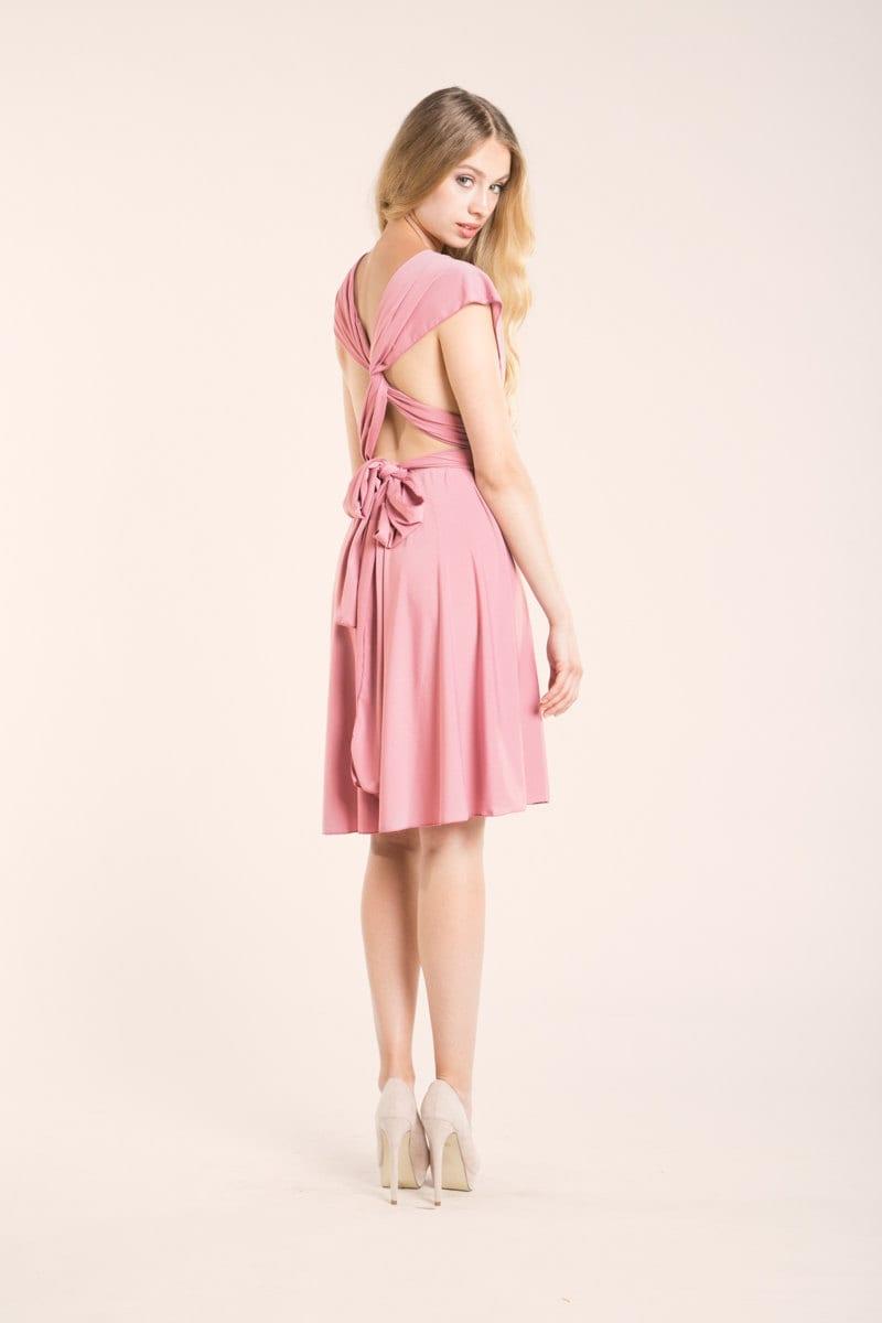 Powder pink dress light pink short dress powder pink short