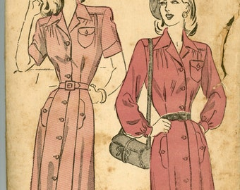 Vintage Advance Pattern 4774 - ca. 1948 - Women's Dress Size 16 Bust 34