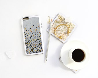 iPhone 7 Case Polka Dots iPhone 7 Plus iPhone 6s Case iPhone SE Case iPhone 6 Case iPhone 6s Plus iPhone iPhone 5S Case - NOT Real Gold I196