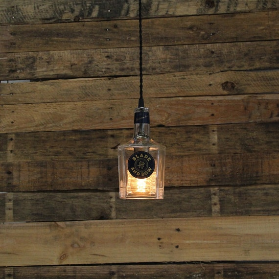 Blade & Bow Pendant Light - Industrial Ceiling Light Fixture, Handmade Hanging Lamp, Bar Lighting, Restaurant Lighting, Kitchen Lighting