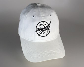 FREE Shipping - NASA Black & White Washed Cotton Cap