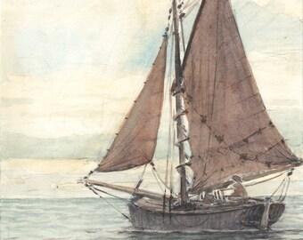 small sailboat (watercolor)