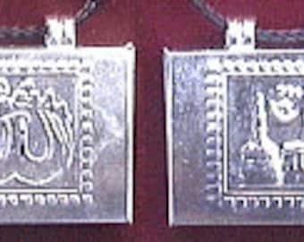 Mecca,Medina,and Allah Taweez Locket W Necklace!, Allah Taweez locket, Mecca taweez locket, medinah taweez locket, Mecca necklace, Allah art
