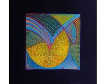 Abstract painting, original small abstract, contemporary mixed media art