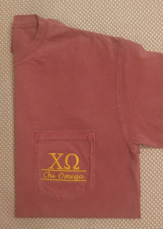 Sorority shirts chi omega sorority t shirt by for Custom greek letter t shirts