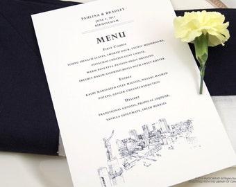 Birmingham Skyline Dinner Menus (Sold in sets of 25)