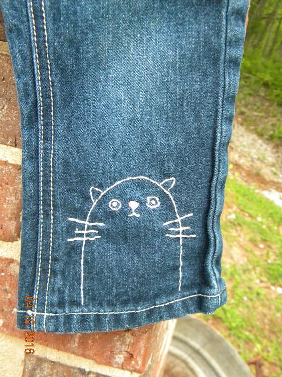 Items similar to sale upcycled month hand embroidered