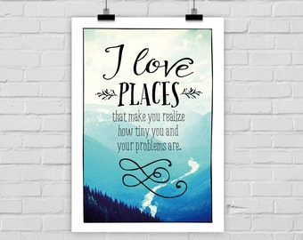 print poster LOVE PLACES WANDERLUST