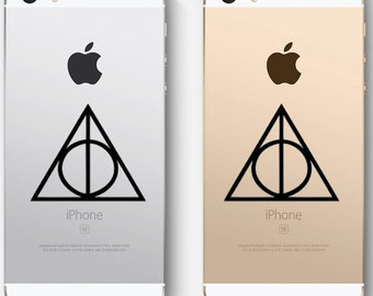 Deathly Hallows, Harry Potter, decal sticker, FREE SHIPPING, Black vinyl, kids room decor, fantasy,  home decor #147