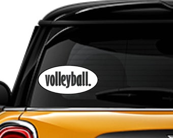 VOLLEYBALL. decal, FREE SHIPPING, White vinyl Volleyball decal #268