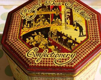 Huntley Boorne and Stevens and Sari Fabrics retro Victorian tin