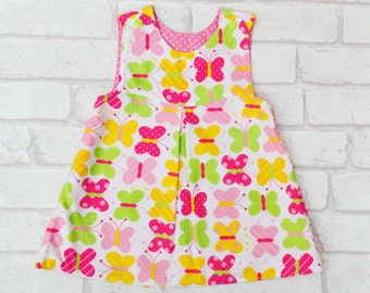 Girls Summer Dress, Girls Dress, Baby Clothing, Girls Clothing, Made To Order, Butterfly Dress, Handmade in the UK, Available in 0-6 years