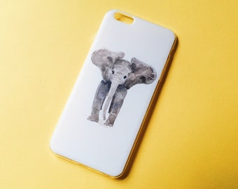 Watercolor Baby Elephant iPhone case, iPhone 5/5s/5SE/6/6s/6 Plus/6s Plus, iPhone 7/7 Plus case, iPhone case, Elephant case, Gift Idea