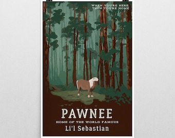 Pawnee Poster, Lil Sebastian Poster, Parks and Recreation poster, parks and recreation, parks and rec, parks and rec print, leslie knope