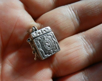 Great Vintage Sterling Silver Money Box Charm Opens