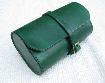 Handmade leather bicycle tool pouch