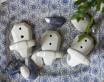French Porcelain Wall Hooks