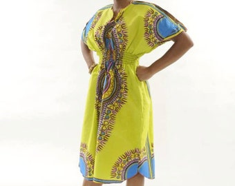 African Clothes Angelina Traditional Print Dress