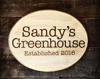 Custom Personalized Hand-burned Wood Garden Sign