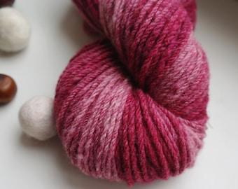 Handspun Yarn Berry Gradient Merino Wool