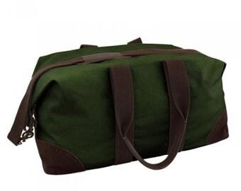 Monogrammed Weekender Bag-Canvas Weekender-Monogrammed Striped Weekender/Personalized Weekender Bag