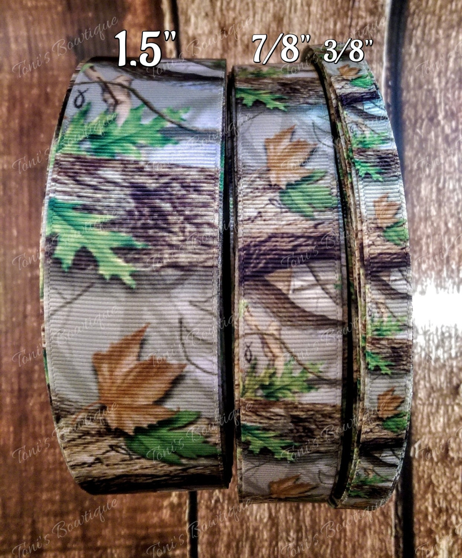 camo real tree mossy oak grosgrain ribbon hairbow ribbon