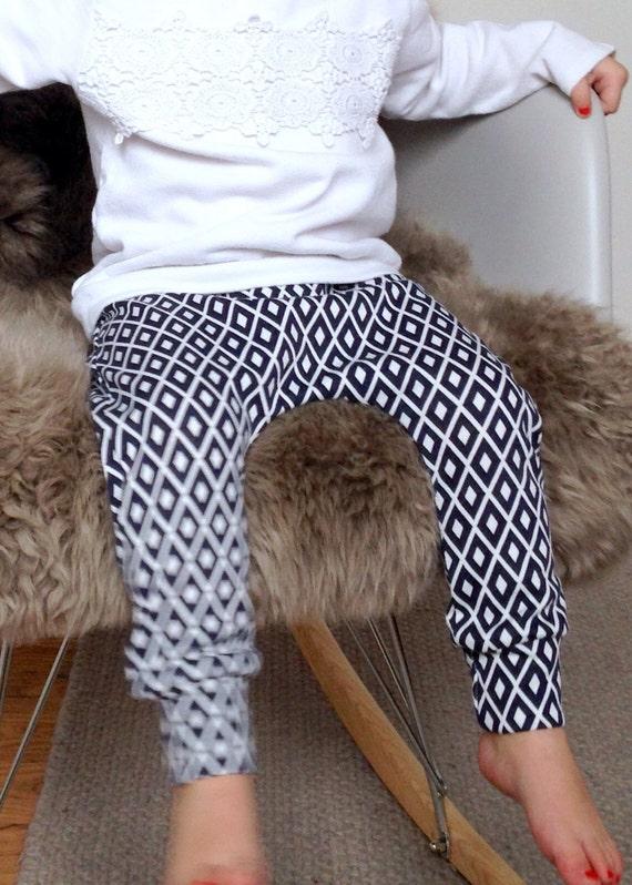 Baby Harem Pants Diamond Pattern Harem Pants Toddler Harem By