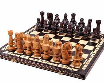 Luxury Hand Made Cesar wooden chess set outstanding pieces.