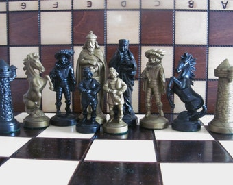 Brand New Medieval Design Chess Pieces Set