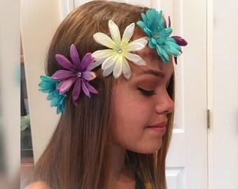 Daisy Headband - EDC - Festival Headband - flower headband, elastic flower headband