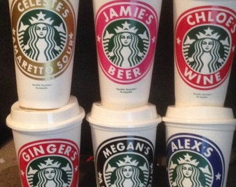 Personalized Starbucks Cups-Grande-16 Oz-Hot or Cold Beverages