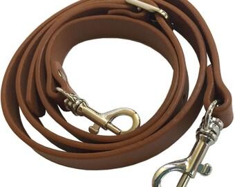 "5/8"" Wide British Tan/CamelGenuine Top Grain Leather Replacement Adjustable Cross Body Purse Strap Handbag Bag"