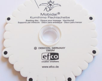 """Kumihimo braiding disk """"Mobidai"""", weave template"""