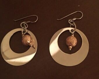 Sterling silver Zea hoop earrings