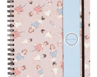 Novelty print A4 Notebook - Top friends - 50s ladies, illustration