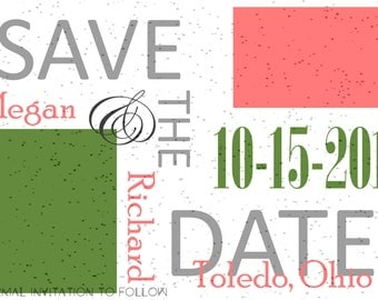 Speckled Save the Date Personalized