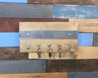 Industrial Key Holder, Repurposed Keys, Upcyled, Car Keys Holder, Keys Rack, Key Hooks, Industrial Style