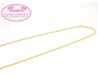 10 m ball balls gold gold 2.4 mm chain